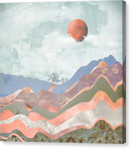 Landscape Canvas Print - Journey To The Clouds by Katherine Smit