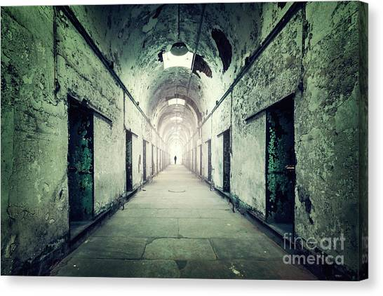 Derelict Canvas Print - Journey To The Light by Evelina Kremsdorf