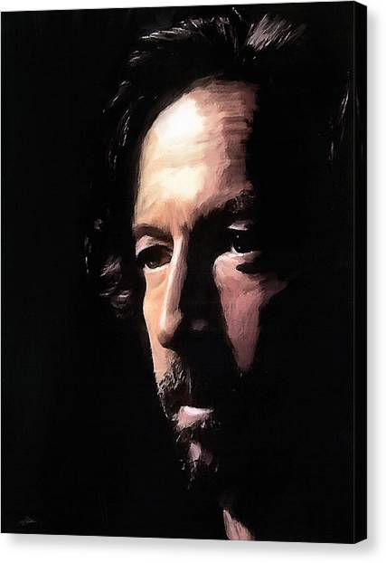 Eric Clapton Canvas Print - Journeyman by Peter Chilelli