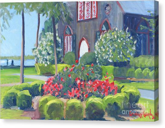 Church Yard Canvas Print - Joy At The Church Of The Cross by Candace Lovely