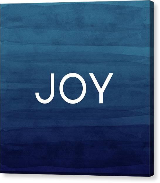 Winter Canvas Print - Joy Blue- Art By Linda Woods by Linda Woods
