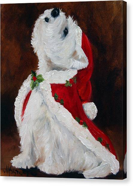 Mary Canvas Print - Joy To The World by Mary Sparrow