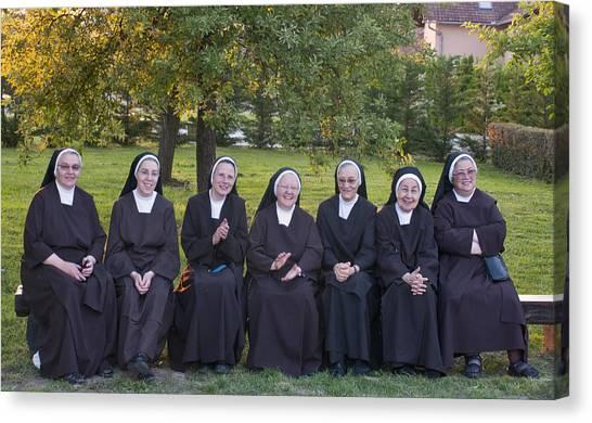 Joyful Nuns Canvas Print by Don Wolf