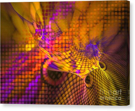 Canvas Print featuring the digital art Joyride - Abstract Art by Sipo Liimatainen