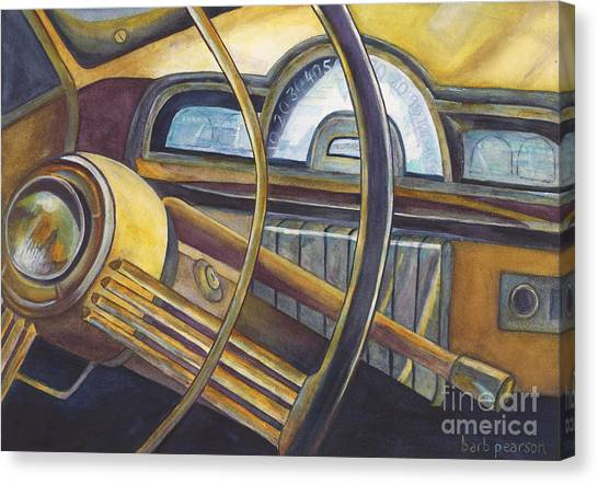 Car Canvas Print - Joyride by Barb Pearson