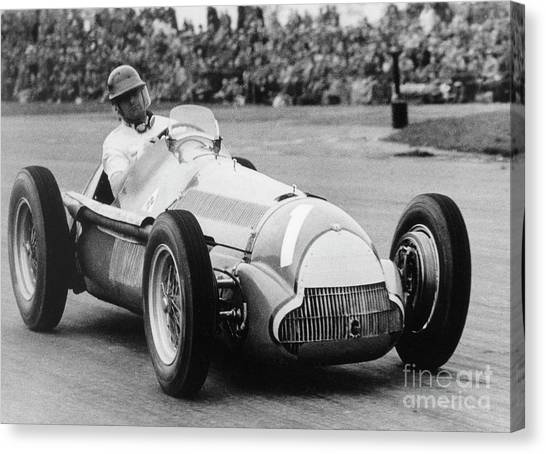 Argentinian Canvas Print - Juan Manuel Fangio  by French School