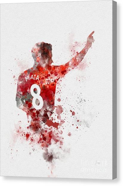 Premier League Canvas Print - Juan Mata by My Inspiration