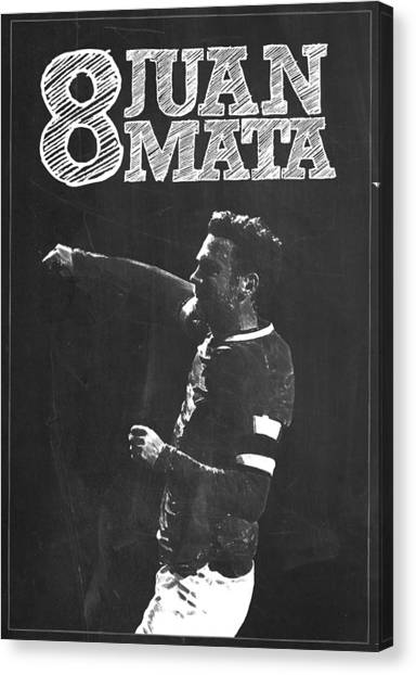 Wayne Rooney Canvas Print - Juan Mata by Semih Yurdabak