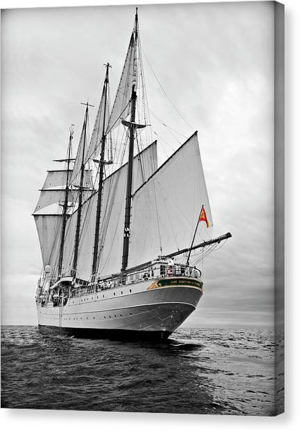 Juan Sebastian De Elcano In Its World Wild Travel Canvas Print