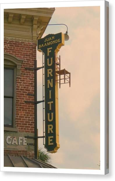 Ben Affleck Canvas Print - Juan's Furniture Store by Robert Youmans