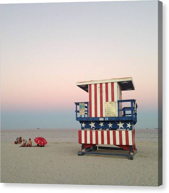 Lifeguard Canvas Print - #juansilvaphotos #miamibeach, #miami by Juan Silva