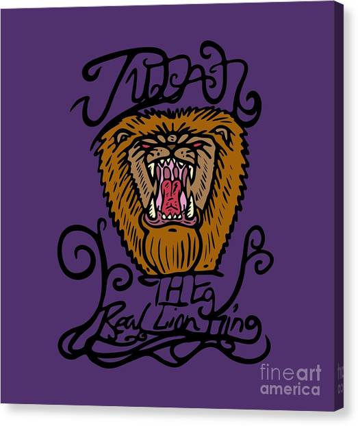 Judah The Real Lion King Canvas Print