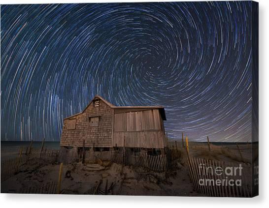 Mv Canvas Print - Judges Shack Vortex Star Trails by Michael Ver Sprill