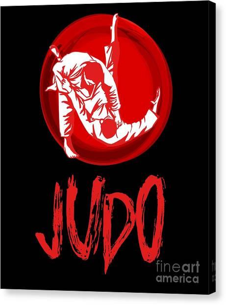 Jujitsu Canvas Print - Judo Japan Martial Arts Gift Grappling Light by J P