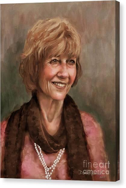Canvas Print featuring the digital art Mrs. Weaver by Dwayne Glapion