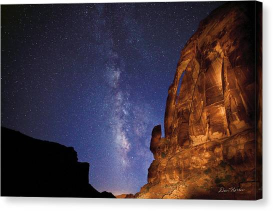 Jug Handle Arch And The Milky Way Canvas Print
