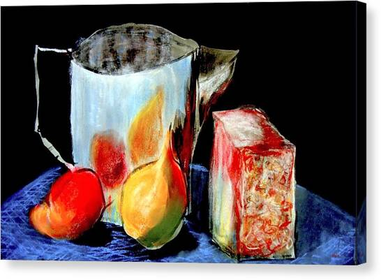 Jug With Fruit Canvas Print