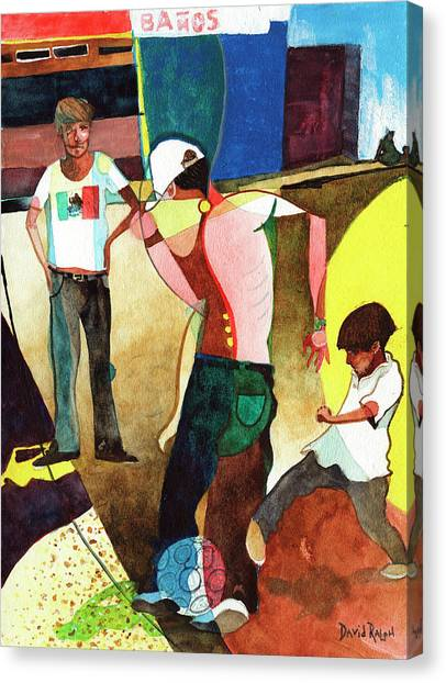 Jugando Canvas Print