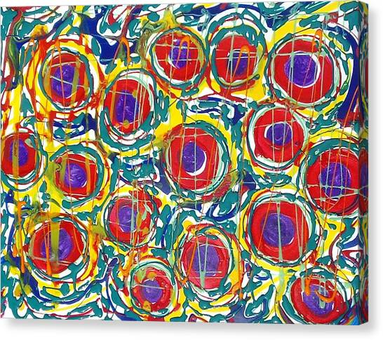Jugglery Of Colors Canvas Print by Baljit Chadha