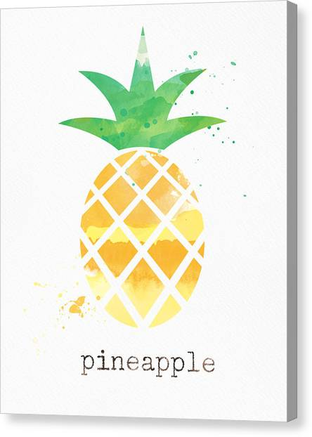Pineapples Canvas Print - Juicy Pineapple by Linda Woods