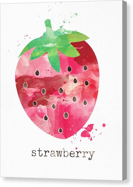 Vegetarian Canvas Print - Juicy Strawberry by Linda Woods