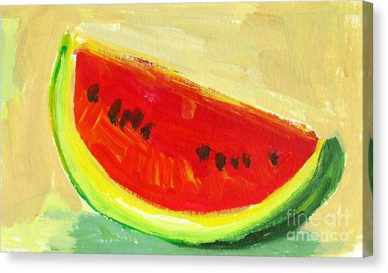 Juicy Watermelon - Kitchen Decor Modern Art Canvas Print