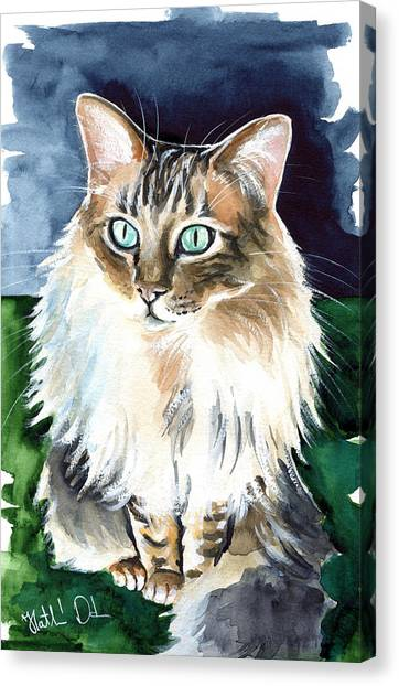 Juju - Cashmere Bengal Cat Painting Canvas Print