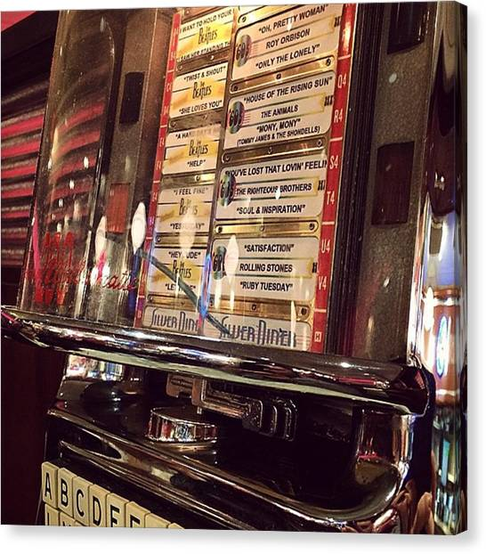 Jukebox Canvas Print - Juke It Up #sunday #brunch #beatles by Matthew Rappaport
