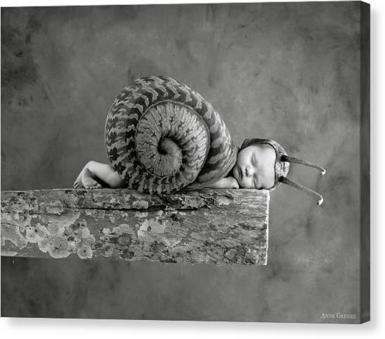 Sleeping Canvas Print - Julia Snail by Anne Geddes