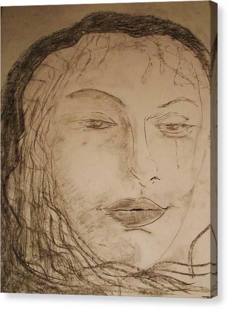 Julia Weeps Canvas Print by J Bauer