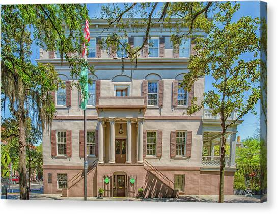 Girl Scouts Canvas Print - Juliette Gordon Low House by Gestalt Imagery