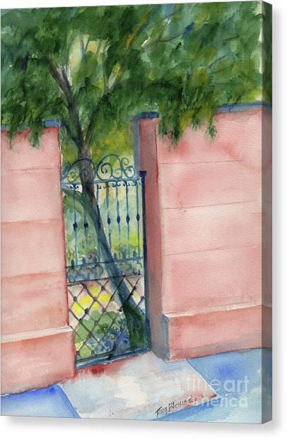 Girl Scouts Canvas Print - Juliette Low Garden Gate by Doris Blessington