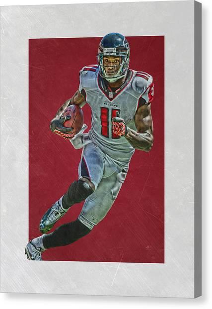 Atlanta Falcons Canvas Print - Julio Jones Atlanta Falcons Art 2 by Joe Hamilton