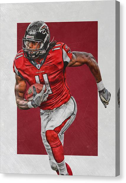 Falcons Canvas Print - Julio Jones Atlanta Falcons Art by Joe Hamilton