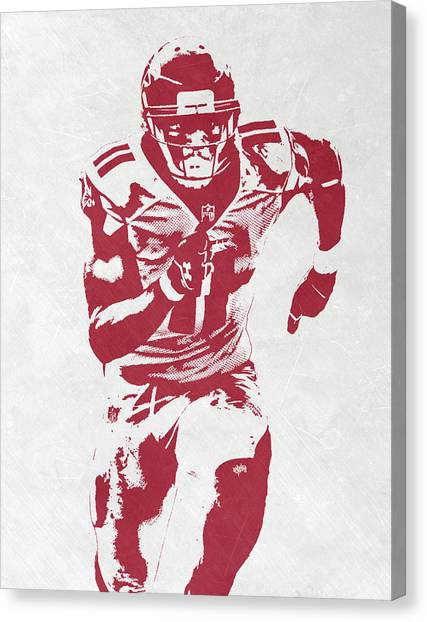 Atlanta Falcons Canvas Print - Julio Jones Atlanta Falcons Pixel Art by Joe Hamilton