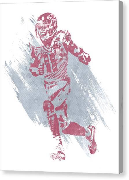 Atlanta Falcons Canvas Print - Julio Jones Atlanta Falcons Water Color Art 3 by Joe Hamilton