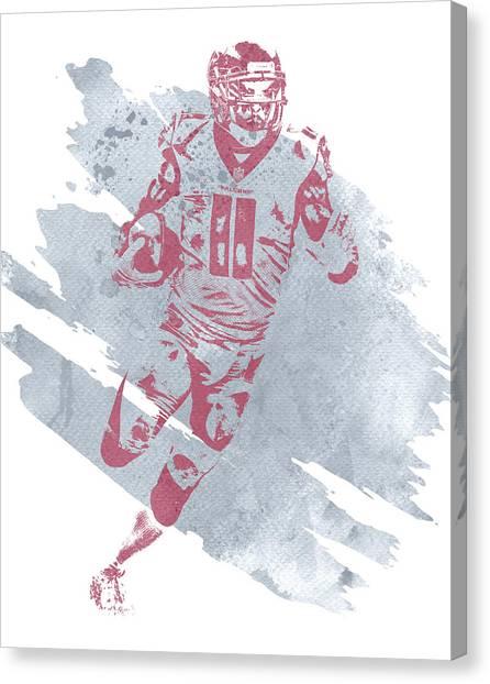 Atlanta Falcons Canvas Print - Julio Jones Atlanta Falcons Water Color Art 4 by Joe Hamilton