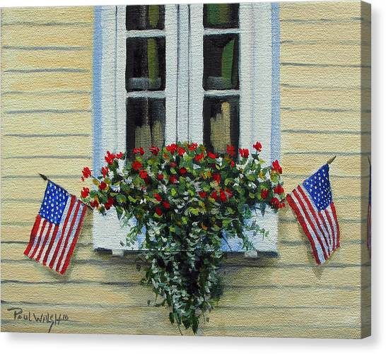 July Flowers Canvas Print by Paul Walsh
