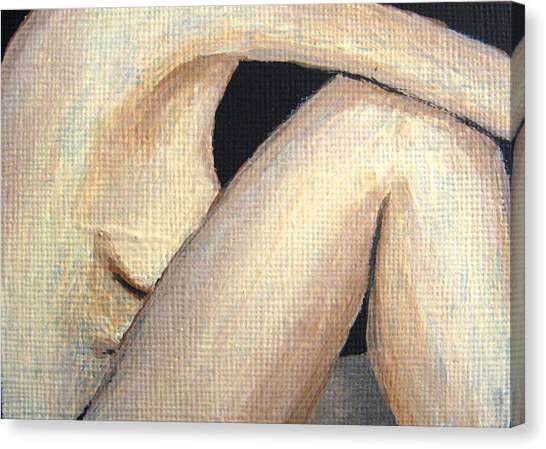July Nude Canvas Print by Deborah Rosier