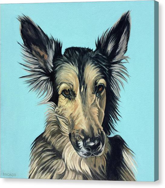 German Shepherds Canvas Print - Juma by Nathan Rhoads