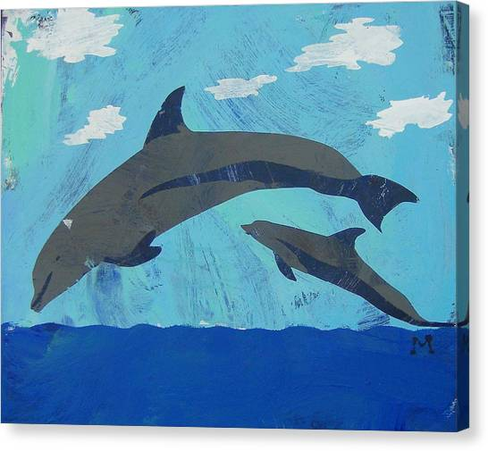 Canvas Print featuring the painting Jump For Joy by Candace Shrope
