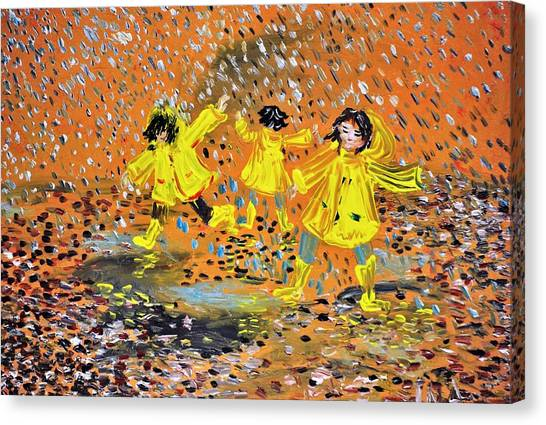 Jump In The Puddle Canvas Print