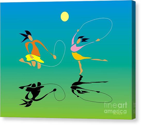 Jump-rope Canvas Print