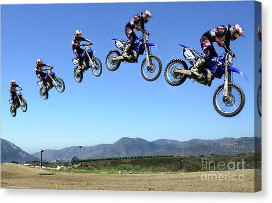 Motocross Canvas Print - Jump Start by Bob Christopher