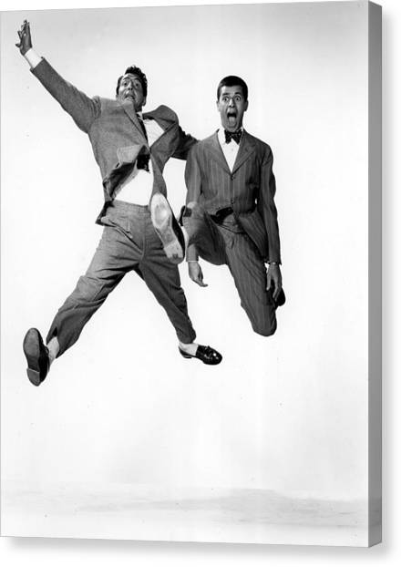 1950s Movies Canvas Print - Jumping Jacks, Dean Martin, Jerry by Everett
