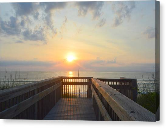 Canvas Print featuring the photograph June 17th Sunrise by Barbara Ann Bell