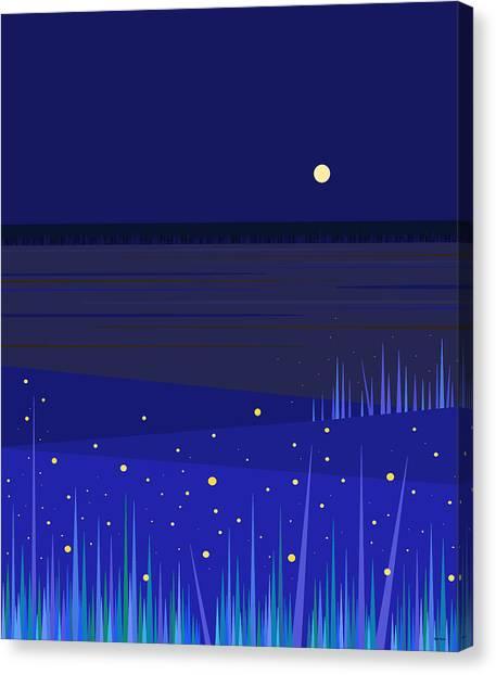 June Nights   Canvas Print