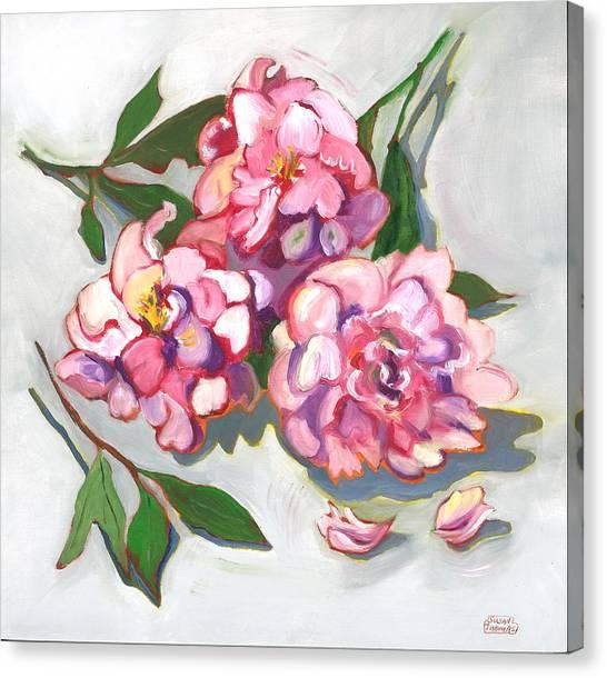 June Peonies Canvas Print