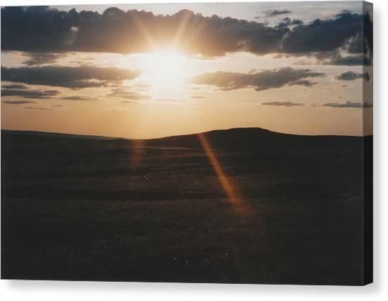 June Sun Rays North Dakota Canvas Print by Gene Linder