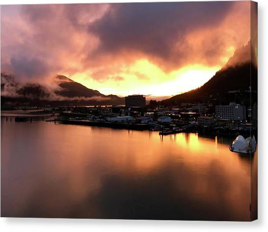 Juneau Sunset Canvas Print